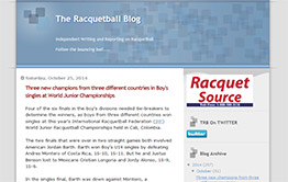 The Racquetball Blog, worldwide racquetball news